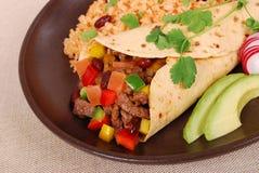 Burrito wrap sandwich Stock Images