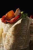 Burritoclose-up Royalty-vrije Stock Afbeeldingen