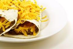 burritos βόειου κρέατος φασολ& Στοκ εικόνες με δικαίωμα ελεύθερης χρήσης