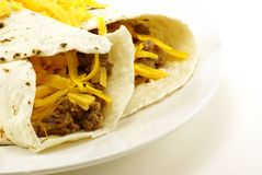 burritos βόειου κρέατος φασολ& Στοκ Εικόνες