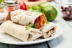 burritos мексиканские Стоковая Фотография