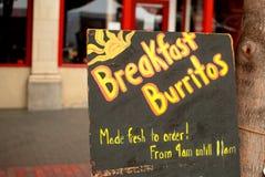 Burritos del desayuno imagenes de archivo