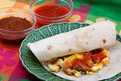 Burritos do pequeno almoço Foto de Stock Royalty Free