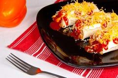 burritos meksykańscy Fotografia Royalty Free