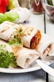 Burritos messicani Fotografia Stock Libera da Diritti