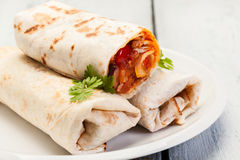 Burritos messicani Fotografie Stock
