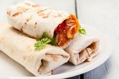 Burritos messicani fotografie stock