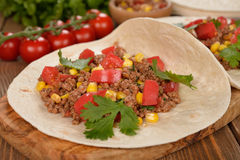 Burritos messicani Immagini Stock Libere da Diritti