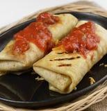 Burritos mexicanos Imágenes de archivo libres de regalías