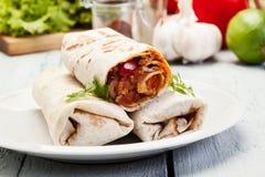 Burritos mexicanos Imagen de archivo libre de regalías