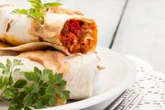 Burritos mexicanos Fotografia de Stock Royalty Free