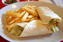 Burritos mexicanos Fotos de archivo libres de regalías