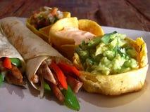 Burritos mexicanos del pollo Fotografía de archivo libre de regalías