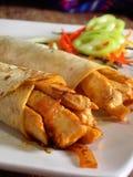 Burritos mexicanos del pollo Imagen de archivo libre de regalías