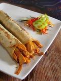 Burritos mexicanos del pollo Fotos de archivo