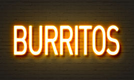 Free Burritos Neon Sign Royalty Free Stock Image - 86131846