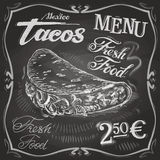 Burritos, tacos vector logo design template.  fast. Fast food on a black background. vector illustration Stock Images