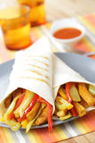 Burritos with tofu and vegetables Royalty Free Stock Photography