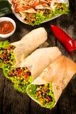 Burritosomslagen Stock Afbeelding