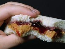 Burro & gelatina di arachide Fotografie Stock Libere da Diritti