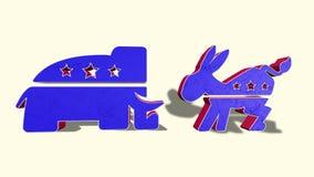 Burro de Democrat y elefante republicano stock de ilustración
