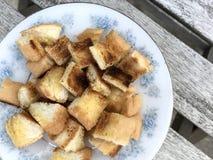 Burro del pane tostato, stile della Tailandia fotografia stock