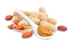 Burro di arachide cremoso Fotografie Stock