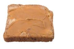 Burro di arachide e del pane Fotografie Stock