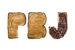 Burro di arachidi e gelatina Fotografie Stock Libere da Diritti