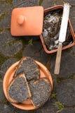 Burro e pane della canapa Fotografie Stock