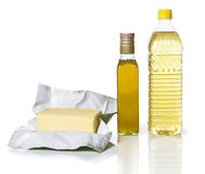 Burro ed olio Immagine Stock