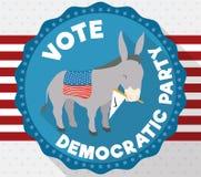Burro en el diseño americano que promueve el voto para el partido Democratic, ejemplo del vector libre illustration