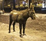 Burro on Market Square in Torun.  Poland Royalty Free Stock Photography