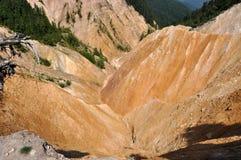 Burrone, paesaggio di erosione Immagine Stock