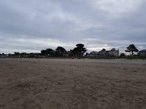 Burrow beach. Isolated beach near Howth Ireland stock photos