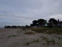 Burrow beach. Isolated beach near Howth Ireland royalty free stock photo