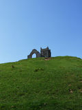 Burrow Mump. And church ruins, Burrowbridge, Somerset, UK Royalty Free Stock Photo