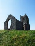 Burrow Mump. And church ruins, Burrowbridge, Somerset, UK Stock Photo