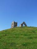 Burrow Mump. And church ruins, Burrowbridge, Somerset, UK Stock Photos