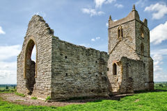 Burrow Mump. The ruins of St Michael's Church atop Burrow Mump on a sunny May afternoon. The hill is a historic site overlooking Southlake Moor in the village of royalty free stock photos