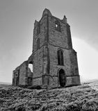 Burrow Mump, Somerset. The ruined church at Burrow Mump, Somerset, England Stock Images