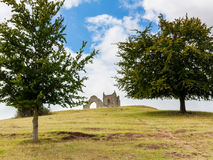 Burrow Mump Somerset England. Burrow Mump is a hill and historic site overlooking Southlake Moor in Burrowbridge Taunton Royalty Free Stock Image