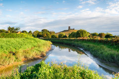 Burrow Mump in Somerset Stock Images