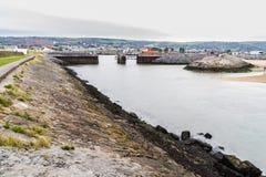 Burry porthamn royaltyfria bilder