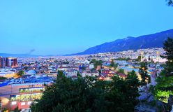 Bursa City. General view of Bursa City in Turkey Royalty Free Stock Images