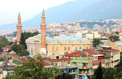 Bursa Grand Mosque or Ulu Cami. Is the largest mosque in Bursa, Turkey Royalty Free Stock Photography