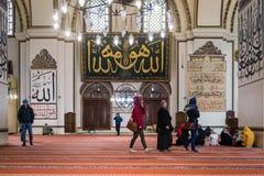 Bursa-großartige Moschee oder Ulu Cami ist eine Moschee in Bursa, die Türkei stockfoto