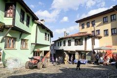 BURSA, TURCHIA - 24 GENNAIO 2015: una vista della via di 700 anni del villaggio dell'ottomano Il villaggio accettato come patrimo Immagine Stock