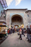 Bursa, Turkey - January 24, 2015: Main gate of stock photography