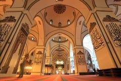 Bursa Ulu Mosque. BURSA, TURKEY - MARCH 8: An interior view of Great Mosque (Ulu Cami) on March 8, 2013 in Bursa, Turkey. Great Mosque is the largest mosque in Stock Image